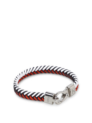 Tod'S: Bracelets & Bangles - Red and white leather bracelet
