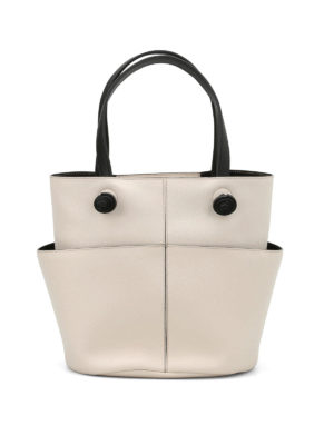 Tod'S: Bucket bags - Leather round bucket bag