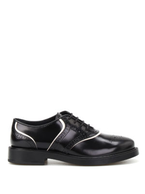 Tod'S: classic shoes - Brushed leather Oxford brogues