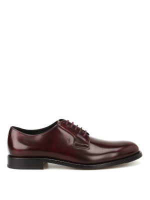 Tod'S: classic shoes - Burgundy leather Derby shoes