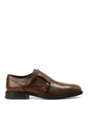 Tod'S: classic shoes - Faded glossy leather monk straps