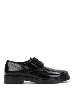 Tod'S: classic shoes - Leather brogue Derby shoes