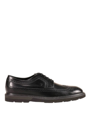 Tod'S: classic shoes - Leather brogue detailed derby shoes