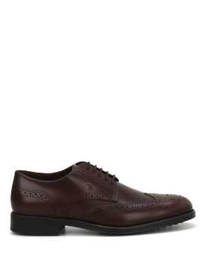 Tod'S: classic shoes - Leather Derby brogue