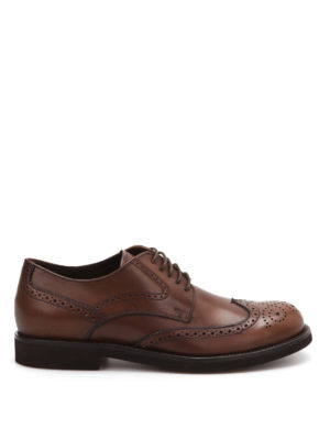 Tod'S: classic shoes - Leather lace-up brogue shoes