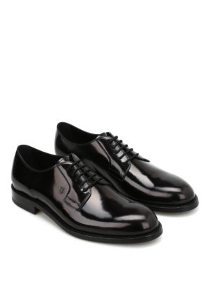 Tod'S: classic shoes online - Brushed leather Derby shoes