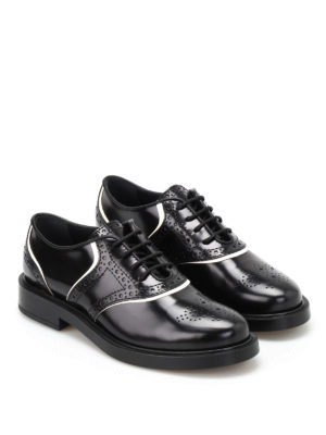 Tod'S: classic shoes online - Brushed leather Oxford brogues