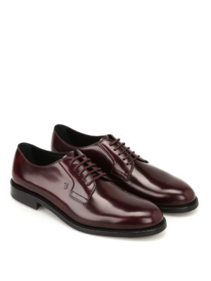 Tod'S: classic shoes online - Burgundy leather Derby shoes