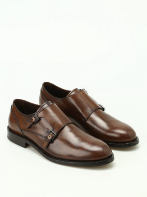 Tod'S: classic shoes online - Faded glossy leather monk straps