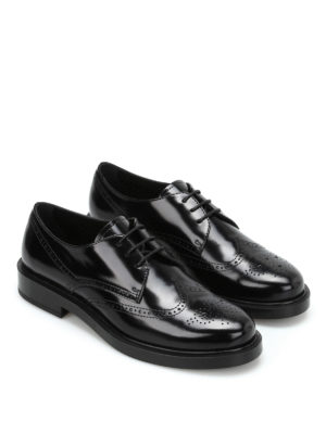 Tod'S: classic shoes online - Leather brogue Derby shoes