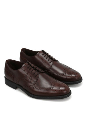 Tod'S: classic shoes online - Leather Derby brogue