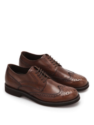 Tod'S: classic shoes online - Leather lace-up brogue shoes
