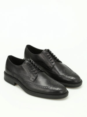 Tod'S: classic shoes online - Semi glossy leather Derby brogues