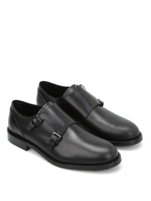 Tod'S: classic shoes online - Semi-glossy leather monk straps