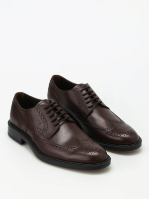 Tod'S: classic shoes online - Semiglossy leather Derby brogues