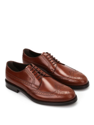 Tod'S: classic shoes online - Smooth leather lace-ups