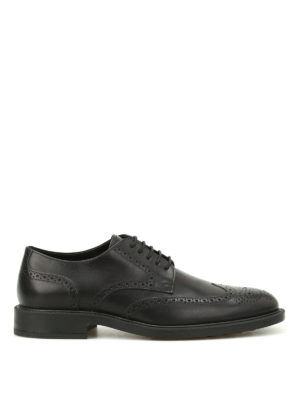 Tod'S: classic shoes - Semi glossy leather Derby brogues