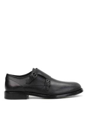 Tod'S: classic shoes - Semi-glossy leather monk straps