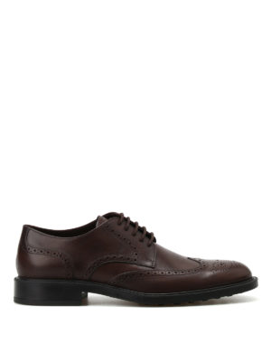 Tod'S: classic shoes - Semiglossy leather Derby brogues