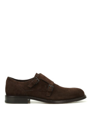 Tod'S: classic shoes - Suede classic monk straps