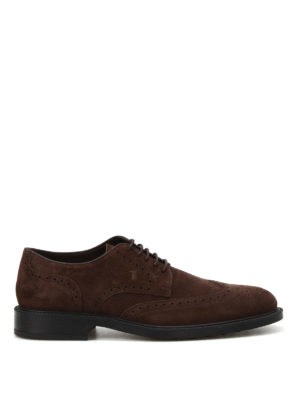 Tod'S: classic shoes - Suede Derby brogues