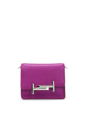 Tod'S: clutches - Double T mini leather clutch