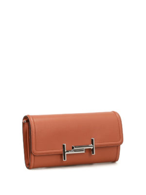 Tod'S: clutches online - Brown leather wallet clutch