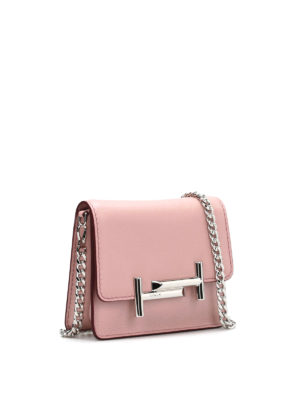 Tod'S: clutches online - Double T mini clutch