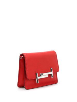 Tod'S: clutches online - Double T mini leather clutch