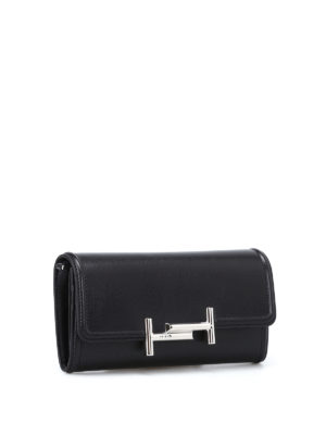 Tod'S: clutches online - Double T wallet clutch