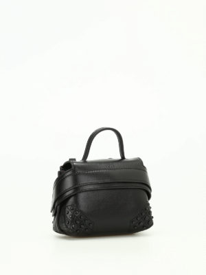 Tod'S: clutches online - Wave Bag Charm leather clutch