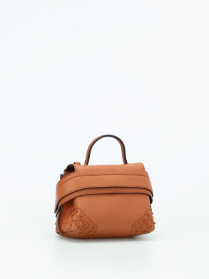 Tod'S: clutches online - Wave Bag Charm soft leather clutch