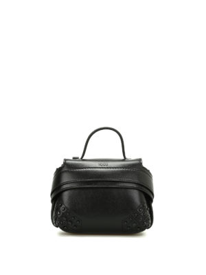 Tod'S: clutches - Wave Bag Charm leather clutch