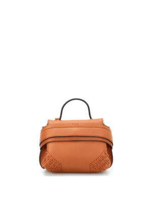 Tod'S: clutches - Wave Bag Charm soft leather clutch