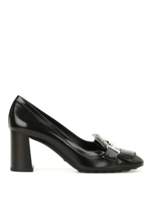 Tod'S: court shoes - Double T fringed leather pumps