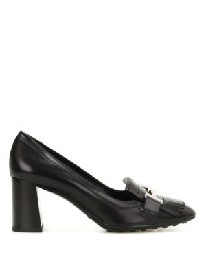 Tod'S: court shoes - Double T fringed pumps