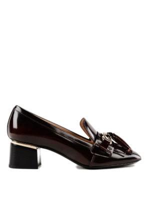 TOD'S: scarpe décolleté - Décolleté stile mocassino con frangia