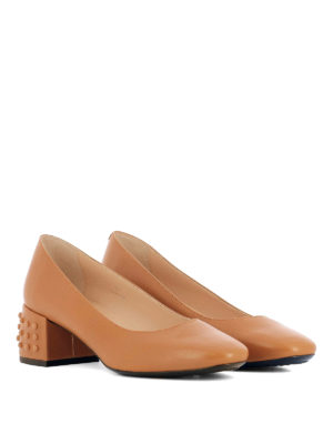 Tod'S: court shoes online - Bevelled heel leather pumps