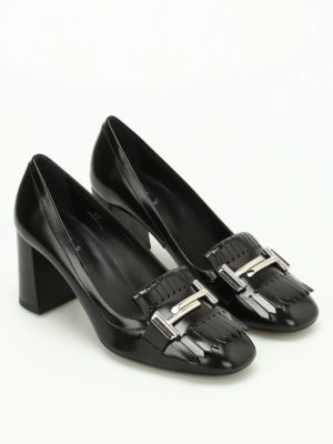 Tod'S: court shoes online - Double T fringed leather pumps