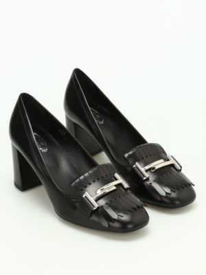 Tod'S: court shoes online - Double T fringed pumps