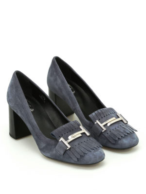Tod'S: court shoes online - Fringed suede pumps