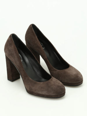 Tod'S: court shoes online - Suede pumps with rubber sole