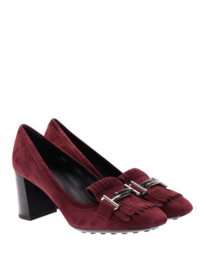 Tod'S: court shoes online - T70 loafers-inspired suede pumps