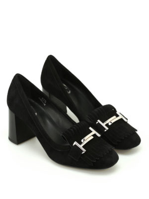 Tod'S: court shoes online - T70 suede loafers-inspired pumps