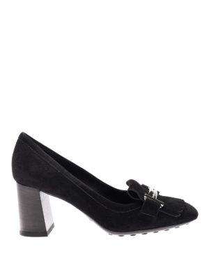Tod'S: court shoes - T70 loafers-inspired fringed pumps