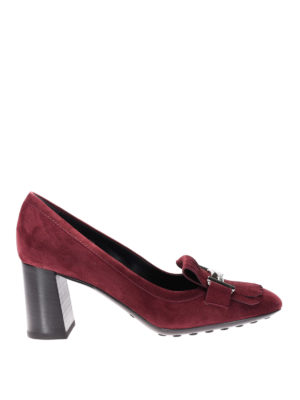 Tod'S: court shoes - T70 loafers-inspired suede pumps