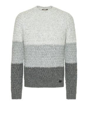 Tod'S: crew necks - Alpaca blend colour block sweater