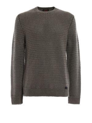 Tod'S: crew necks - Basket stitch knit wool sweater