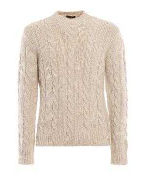 TOD'S: maglia collo rotondo - Girocollo écru in misto cotone lana e alpaca