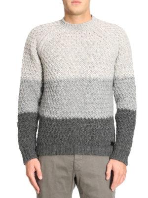 Tod'S: crew necks online - Alpaca blend colour block sweater